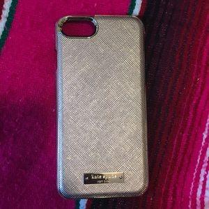 Kate Spade iPhone 7 Gold / Rose Gold Case